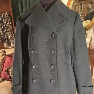 Lane Bryant Jackets & Coats - Charcoal Gray Double Breasted Pea Coat